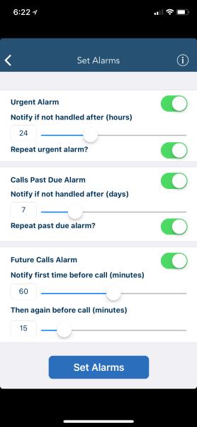 Set Alarms on iOS