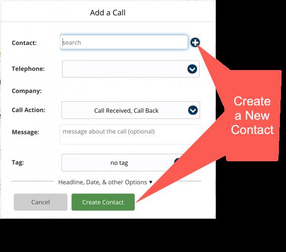 Add a Call Create button callouts