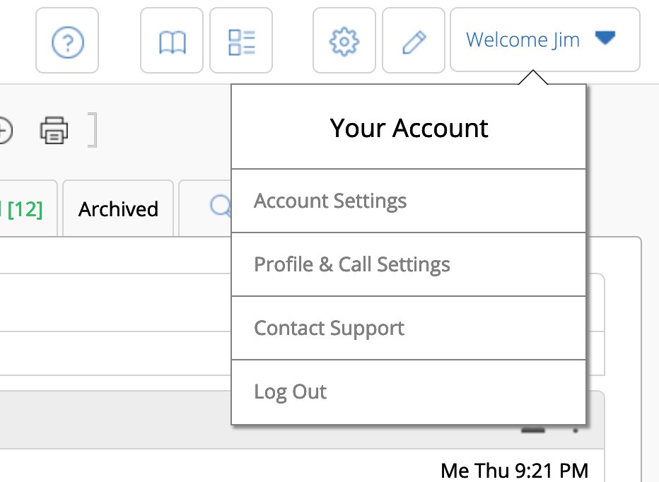 "The ""Your Account"" menu includes selections for customizations that are special to you - like sorting or archiving."